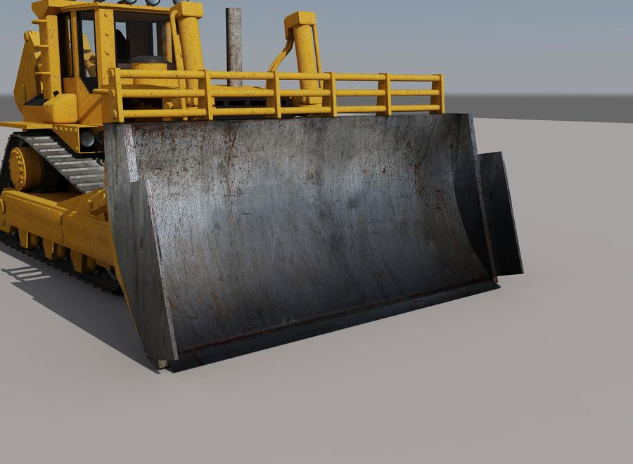 Bulldozer 2.0 royalty-free 3d model - Preview no. 4
