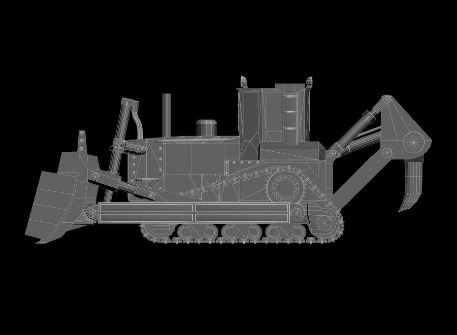 Bulldozer 2.0 royalty-free 3d model - Preview no. 12