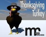 Cartoon Święto Dziękczynienia Turcji 3d model