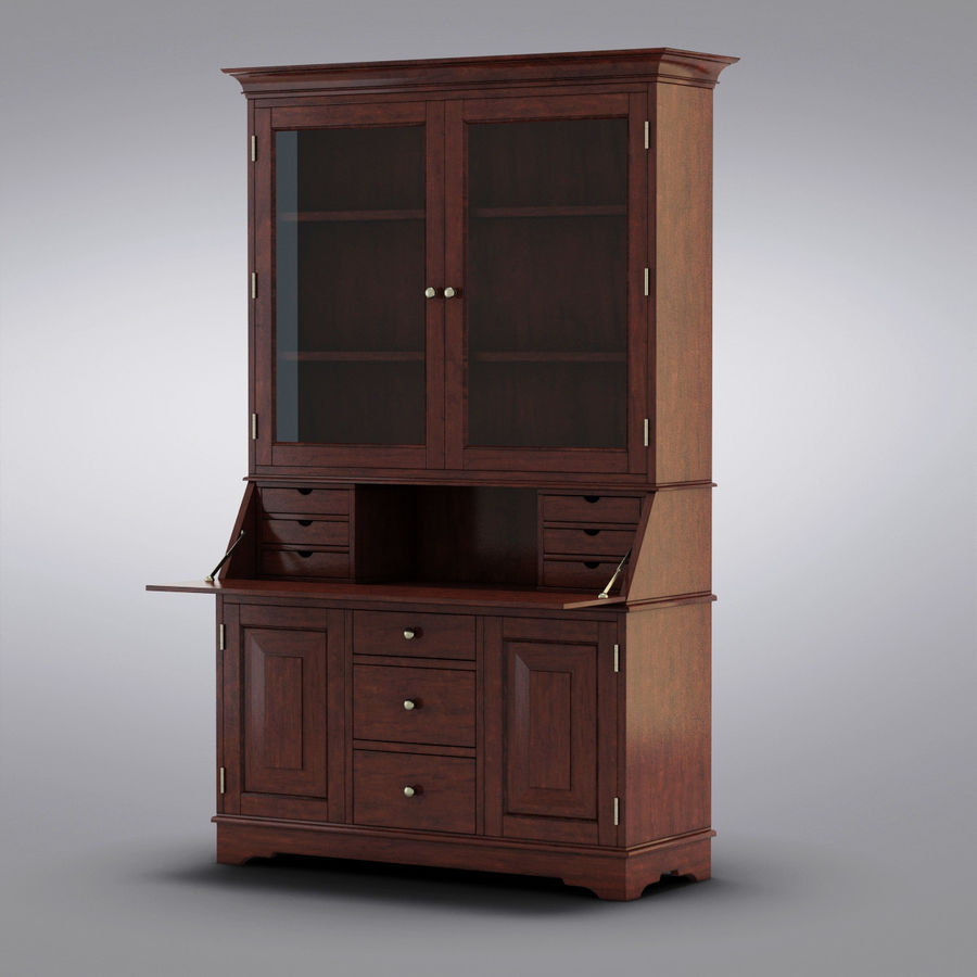 Pottery Barn   Andover Cabinet   Graham Bar U0026 Hutch Royalty Free 3d Model