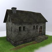 Medieval house01 3d model
