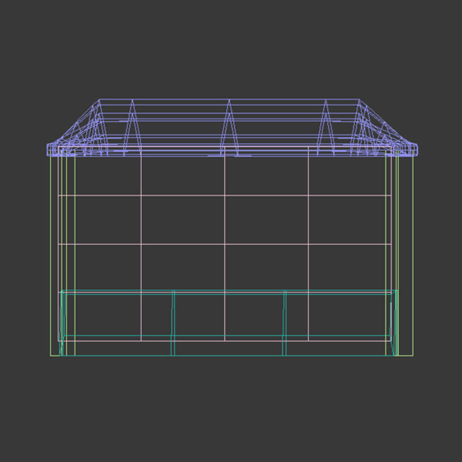 News Stand 1 royalty-free 3d model - Preview no. 4