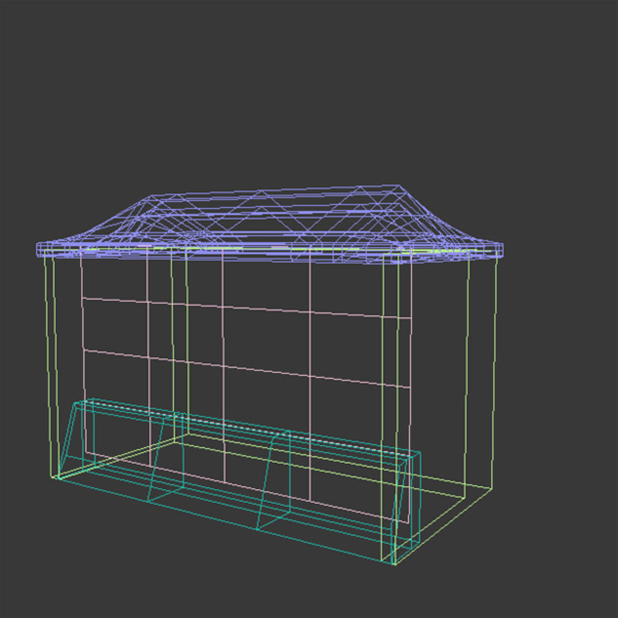 News Stand 1 royalty-free 3d model - Preview no. 3