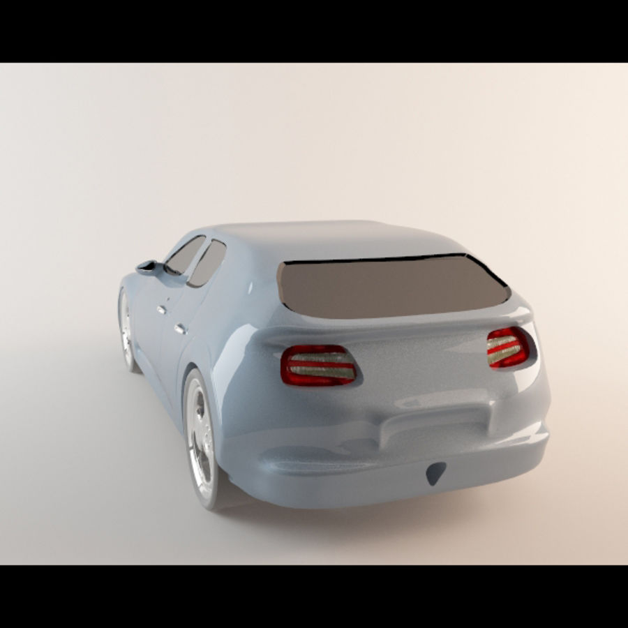 Автомобиль royalty-free 3d model - Preview no. 3