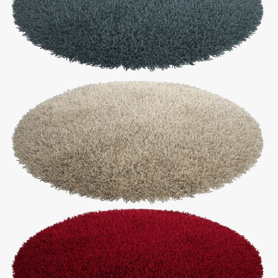 Rug Round royalty-free 3d model - Preview no. 1