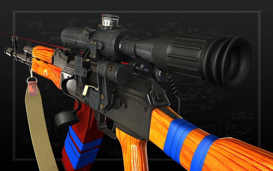AK 74 royalty-free 3d model - Preview no. 1
