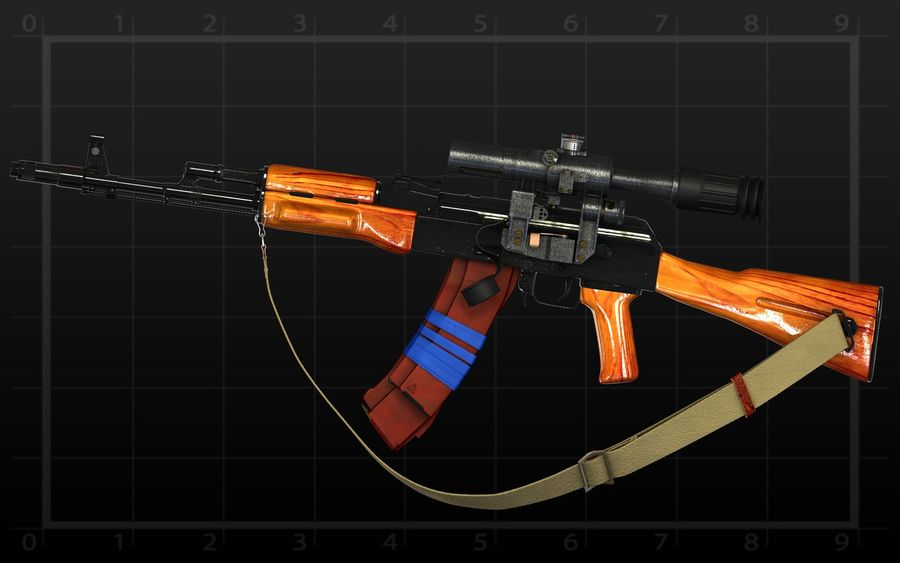 AK 74 royalty-free 3d model - Preview no. 6