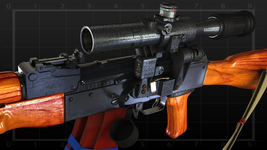 AK 74 royalty-free 3d model - Preview no. 2
