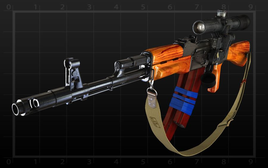 AK 74 royalty-free 3d model - Preview no. 4