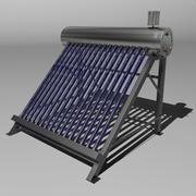 Słoneczny zbiornik na wodę 3d model