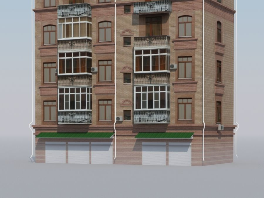 Low poly building 3 royalty-free 3d model - Preview no. 3