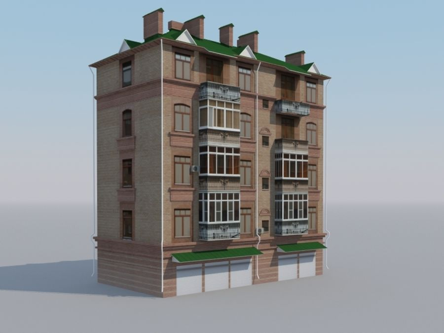 Low poly building 3 royalty-free 3d model - Preview no. 4