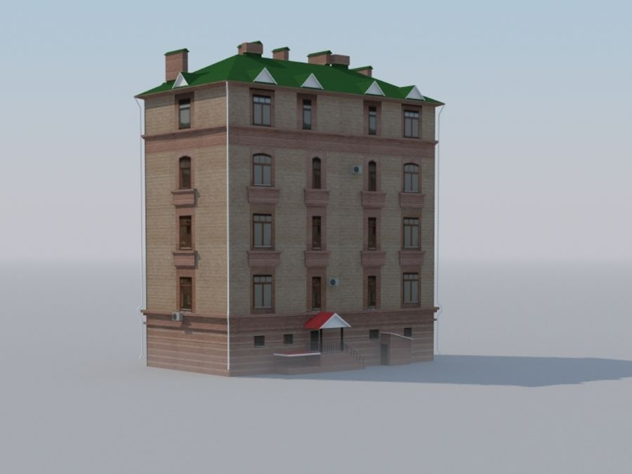 Low poly building 3 royalty-free 3d model - Preview no. 1