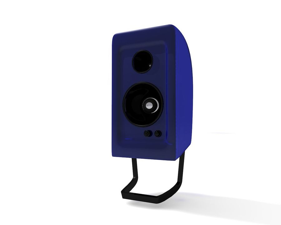 Speakers royalty-free 3d model - Preview no. 2