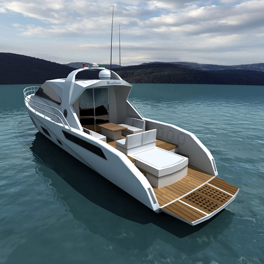 Yacht 02 royalty-free 3d model - Preview no. 2