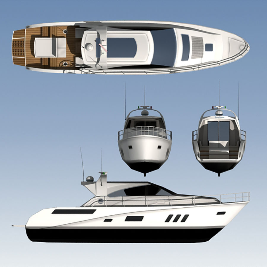Yacht 02 royalty-free 3d model - Preview no. 11