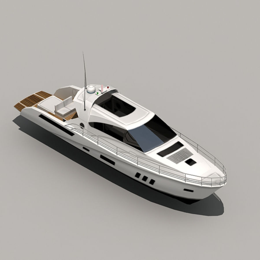 Yacht 02 royalty-free 3d model - Preview no. 9