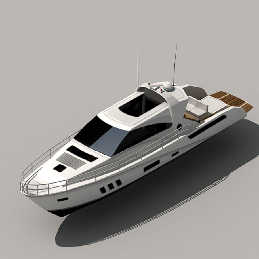 Yacht 02 royalty-free 3d model - Preview no. 12