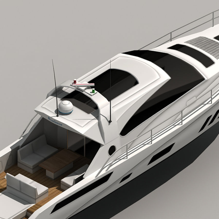 Yacht 02 royalty-free 3d model - Preview no. 10