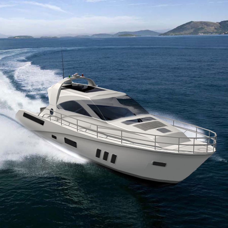 Yacht 02 royalty-free 3d model - Preview no. 6