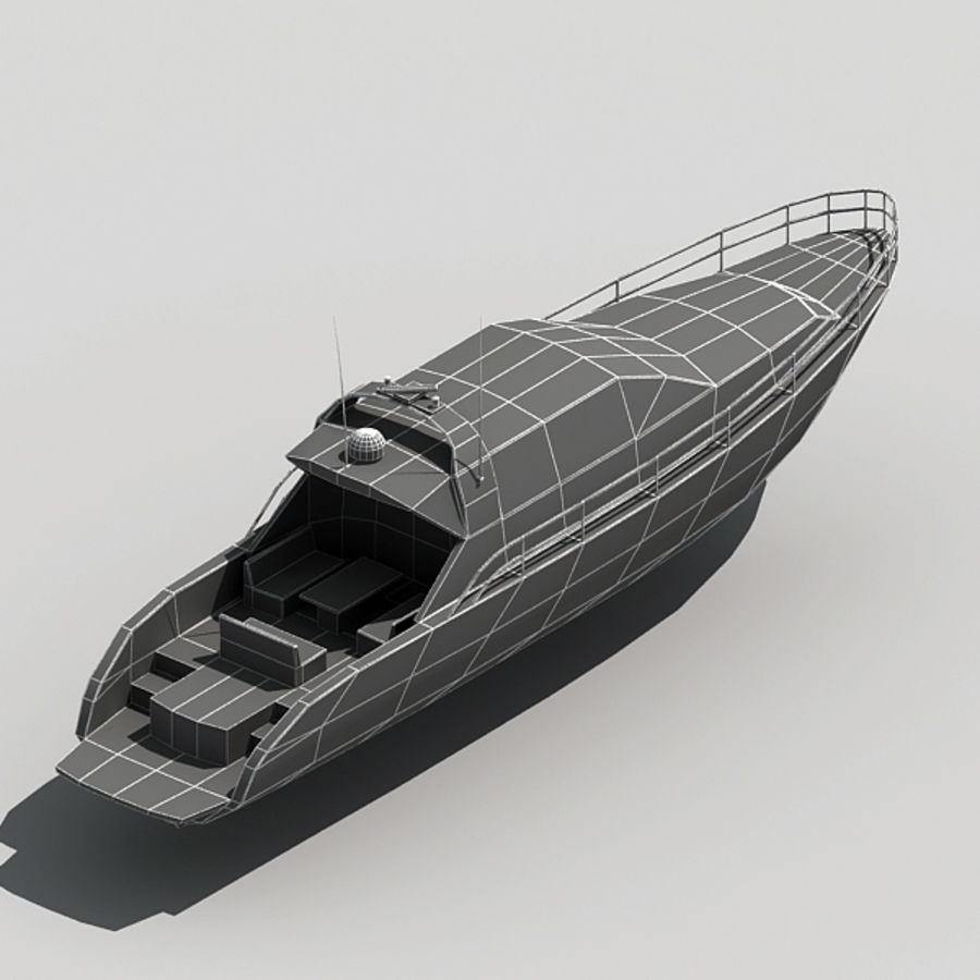 Yacht 02 royalty-free 3d model - Preview no. 15