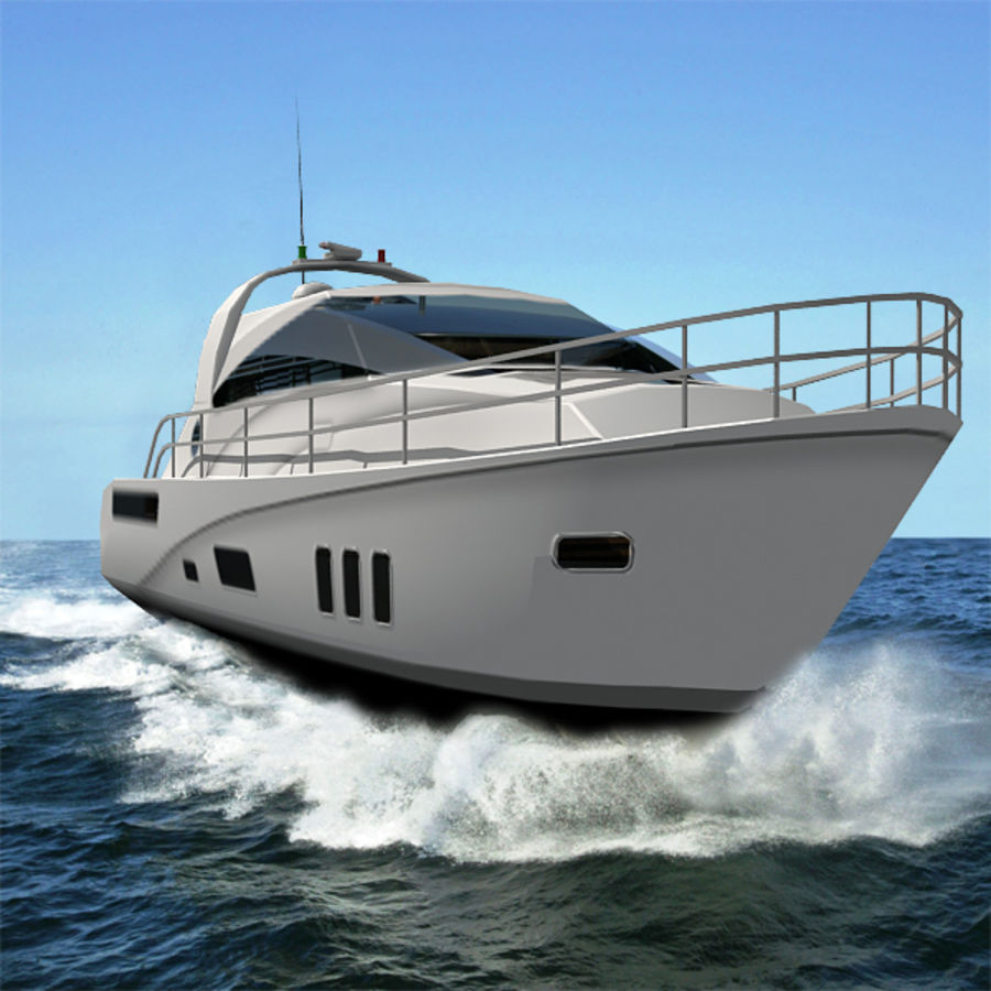 Yacht 02 royalty-free 3d model - Preview no. 5