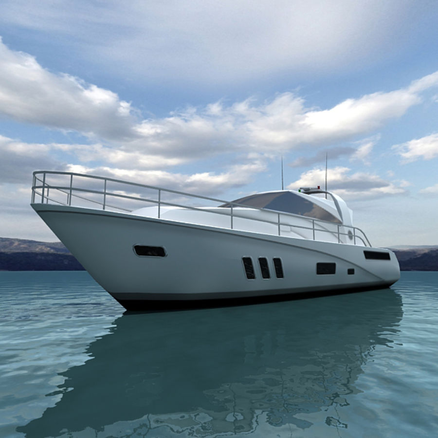 Yacht 02 royalty-free 3d model - Preview no. 3