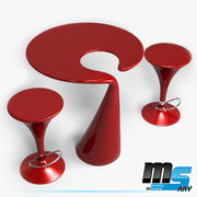 Modern coffee table set 3d model