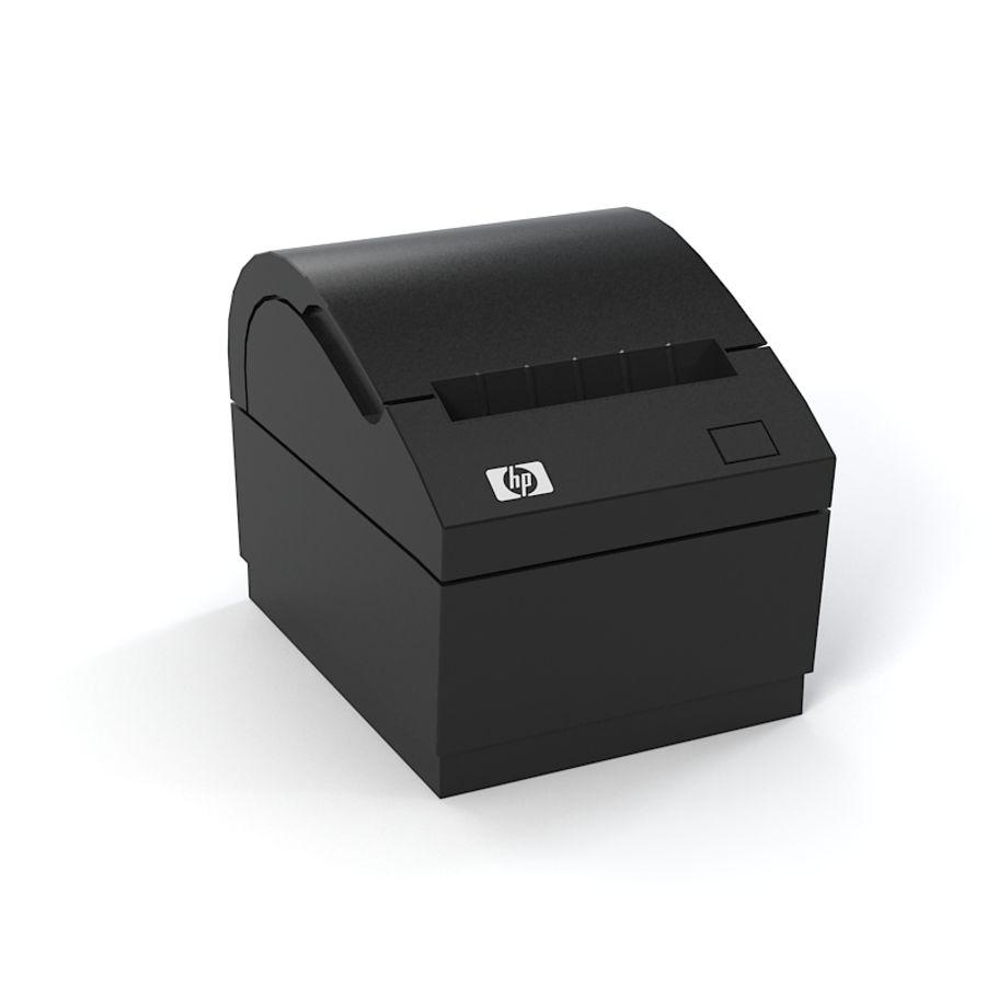 HP FK224AA Reciept printer royalty-free 3d model - Preview no. 2