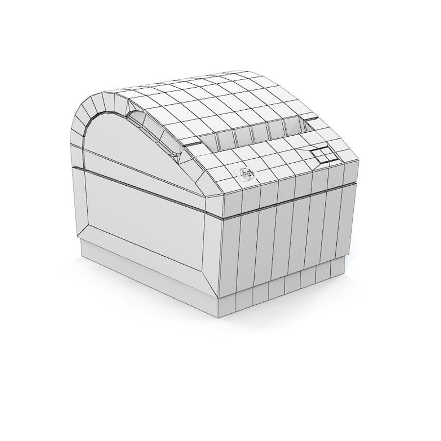 HP FK224AA Reciept printer royalty-free 3d model - Preview no. 5