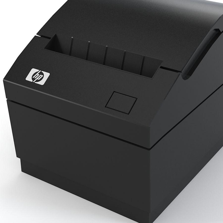 HP FK224AA Reciept printer royalty-free 3d model - Preview no. 3