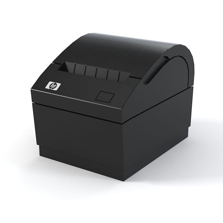 HP FK224AA Reciept printer royalty-free 3d model - Preview no. 1