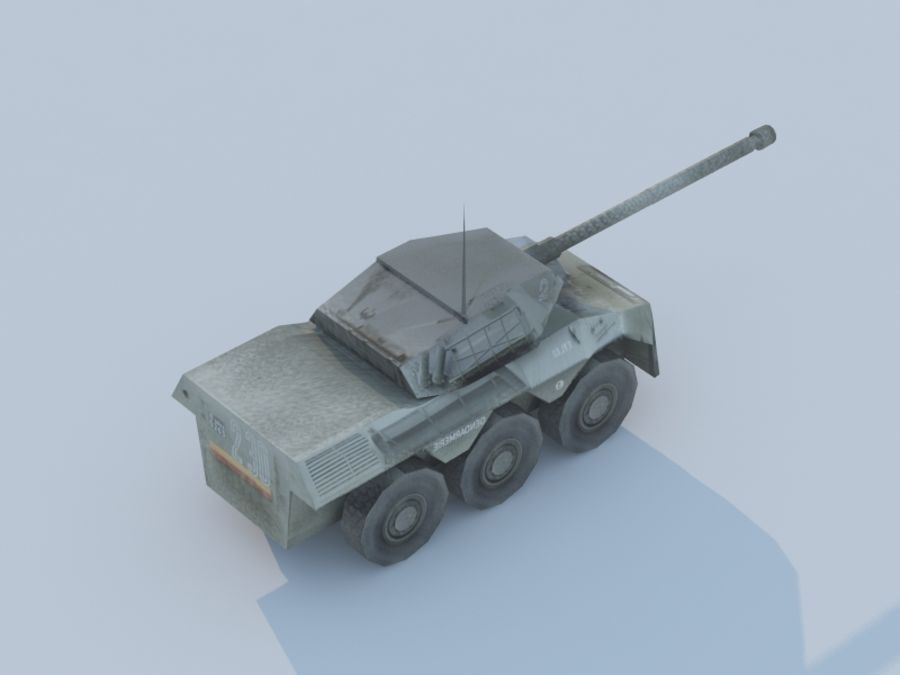 VBC-90タンク低ポリ royalty-free 3d model - Preview no. 3