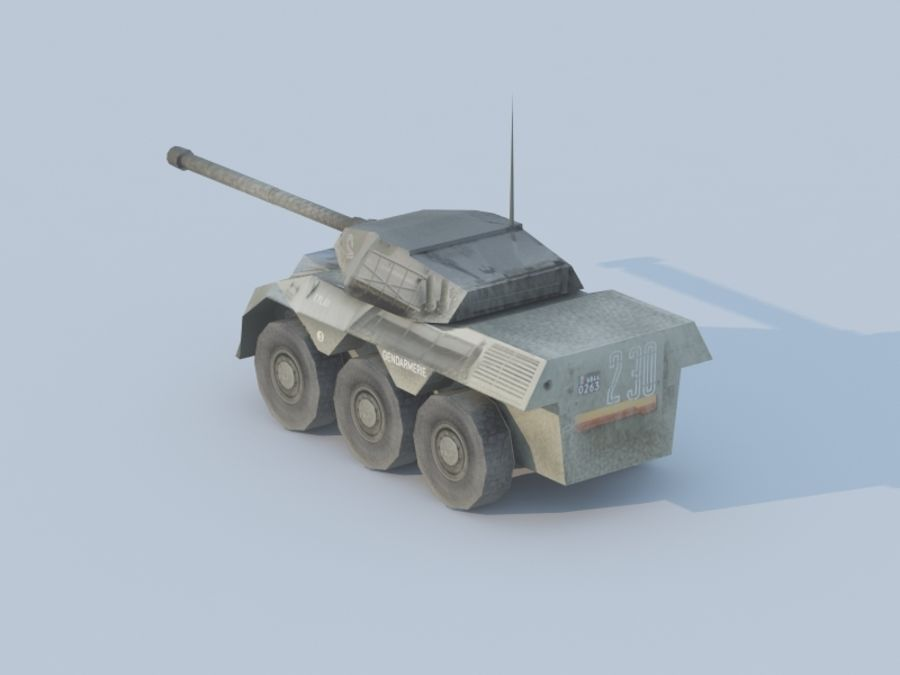 VBC-90タンク低ポリ royalty-free 3d model - Preview no. 2