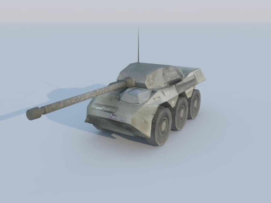 VBC-90タンク低ポリ royalty-free 3d model - Preview no. 1