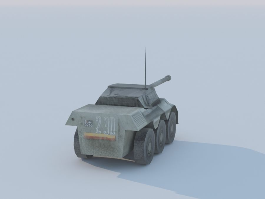 VBC-90タンク低ポリ royalty-free 3d model - Preview no. 5