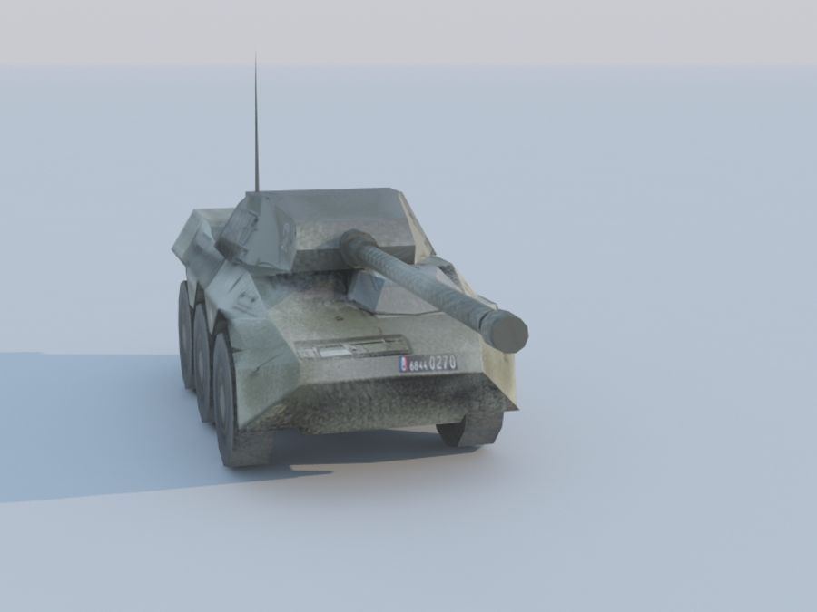 VBC-90タンク低ポリ royalty-free 3d model - Preview no. 4