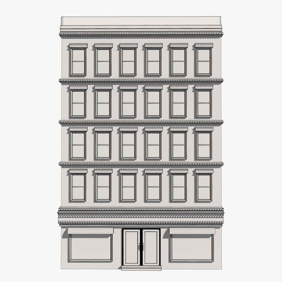 Apartment Building royalty-free 3d model - Preview no. 10
