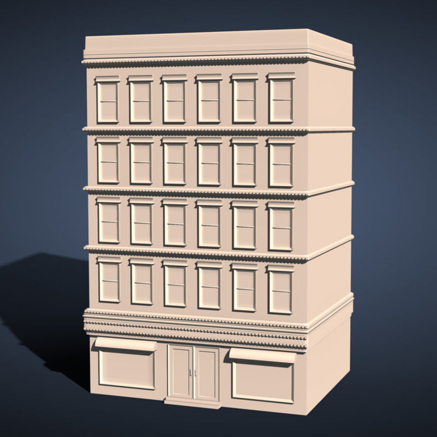 Apartment Building royalty-free 3d model - Preview no. 4