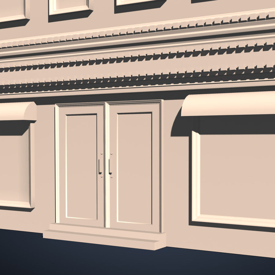 Apartment Building royalty-free 3d model - Preview no. 7