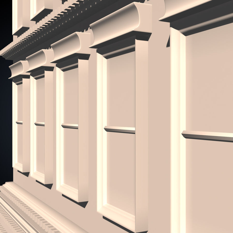 Apartment Building royalty-free 3d model - Preview no. 8
