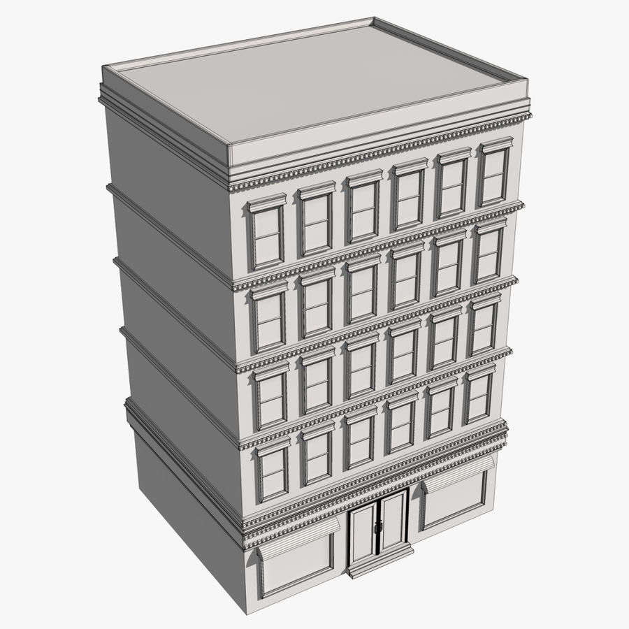Apartment Building royalty-free 3d model - Preview no. 9