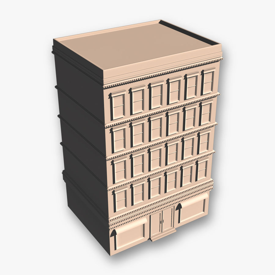 Apartment Building royalty-free 3d model - Preview no. 1