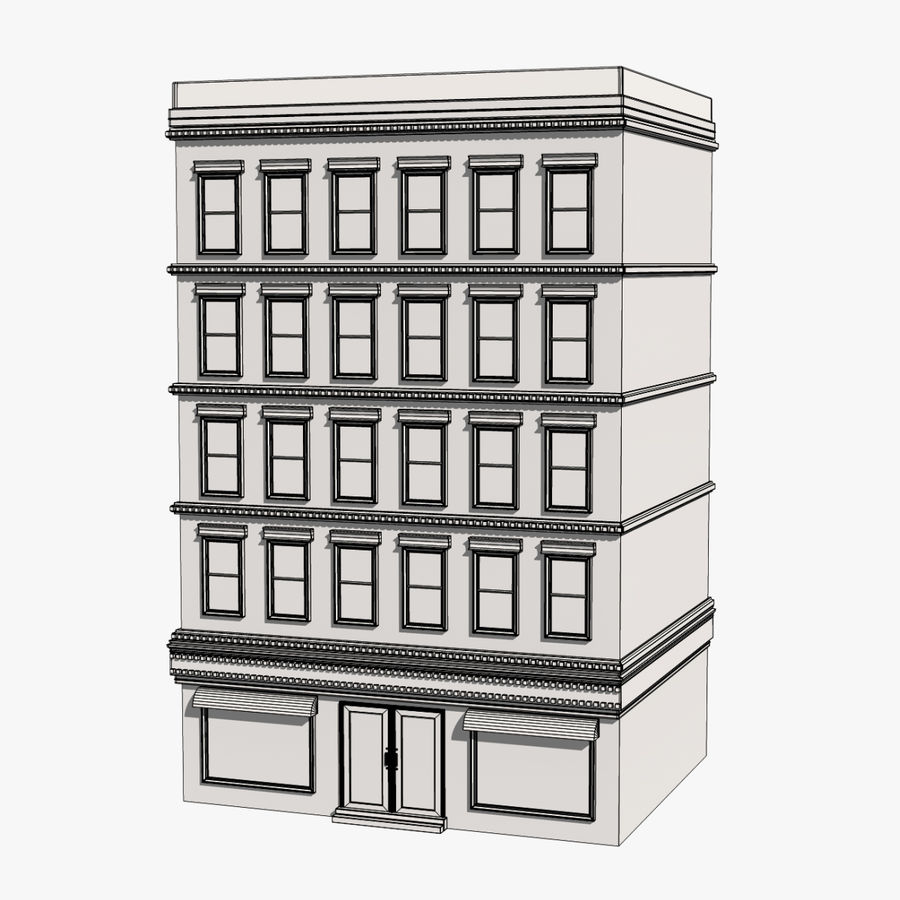 Apartment Building royalty-free 3d model - Preview no. 11