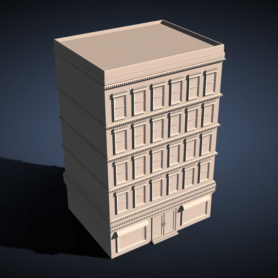 Apartment Building royalty-free 3d model - Preview no. 2