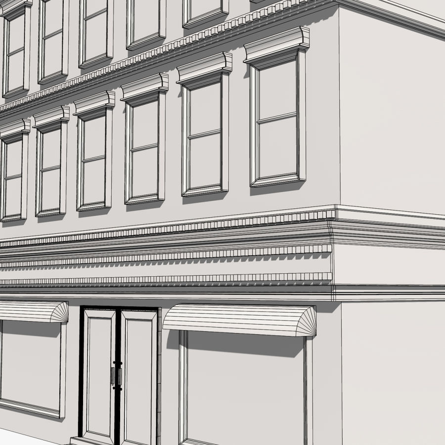 Apartment Building royalty-free 3d model - Preview no. 12