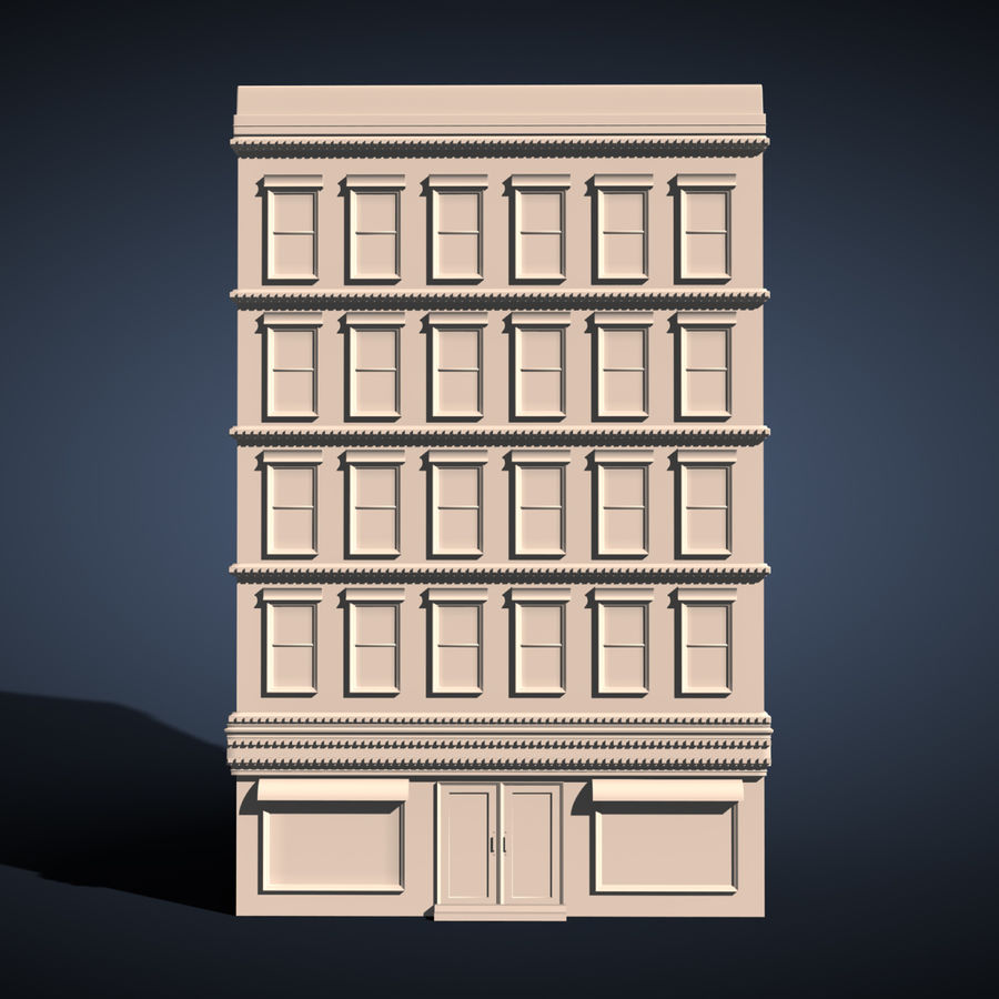 Apartment Building royalty-free 3d model - Preview no. 3