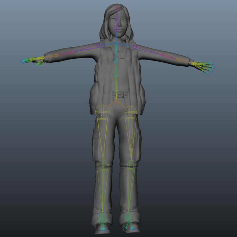 Character Elly royalty-free 3d model - Preview no. 7