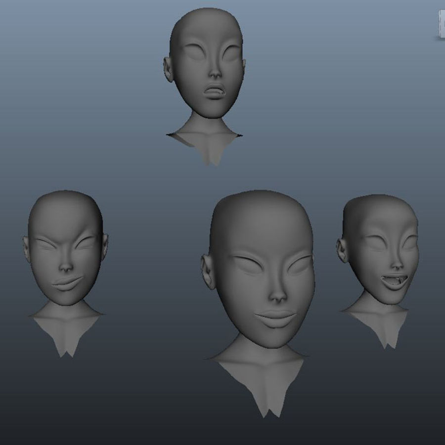 Character Elly royalty-free 3d model - Preview no. 6