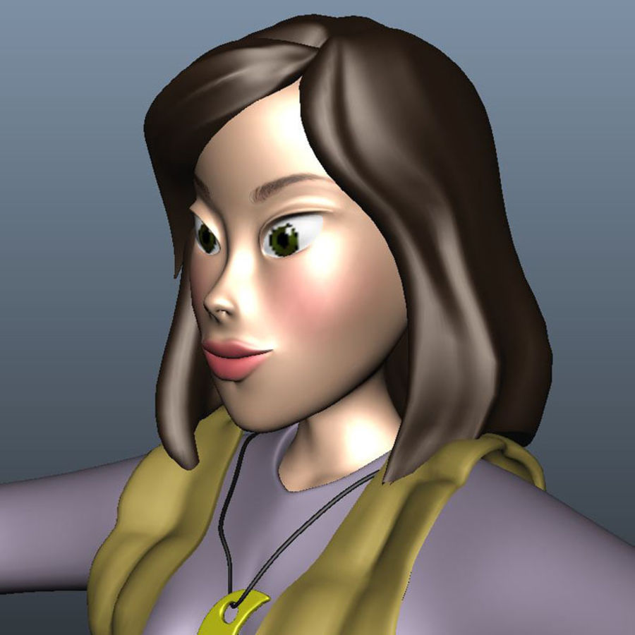 Character Elly royalty-free 3d model - Preview no. 5